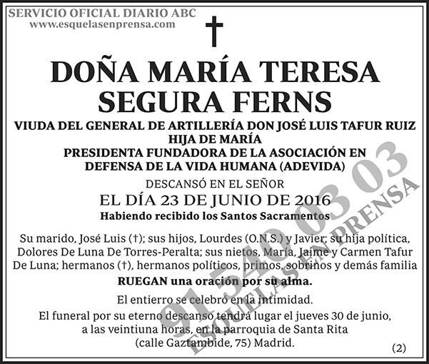 María Teresa Segura Ferns